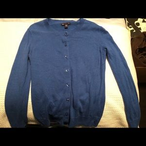 Gap Royal Blue Button Front Cardigan Small
